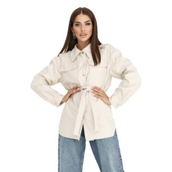 GEPUR 36168 klassisches Damen Hemd aus Kunstleder mit...