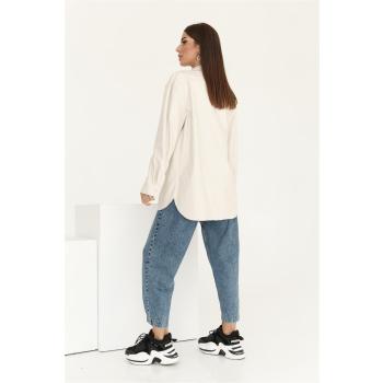 GEPUR 36168 klassisches Damen Hemd aus Kunstleder mit Gürtel