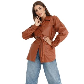 GEPUR 36169 klassisches Damen Hemd aus Kunstleder mit...