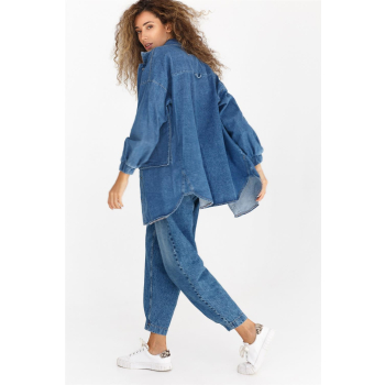 GEPUR 36496 trendige Damen Jeansjacke/Hemd