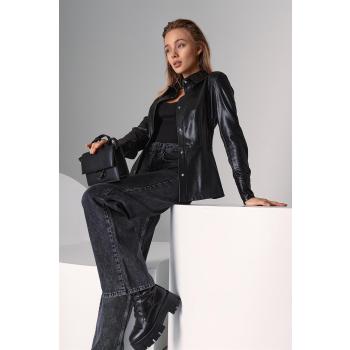 GEPUR 36912 klassisches Damen Hemd aus Kunstleder
