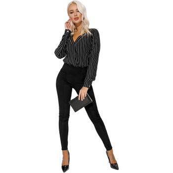 GEPUR 33362 Damen High Waist Hose in Wildleder-Optik