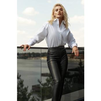 GEPUR 35953 Damen Leggings aus hochwertigem Kunstleder auf Wildlederbasis