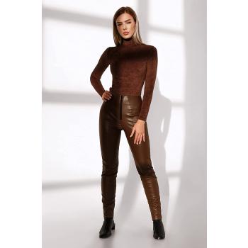 GEPUR 37492 Damen Leggings aus hochwertigem Kunstleder auf Wildlederbasis