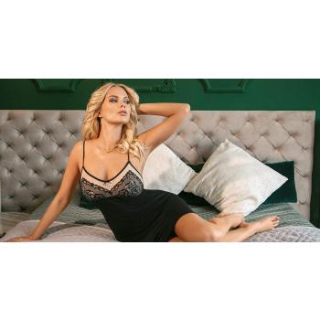 DONNA Margo Damen Nachthemd Kurzarm mit eleganter Spitze