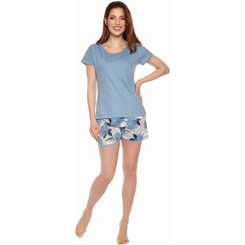 Moonline nightwear Luise Damen Shorty, mit weicher Baumwolle
