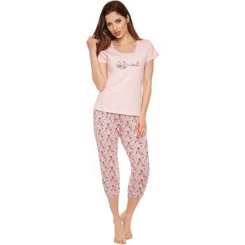 Moonline nightwear Michaela Damen Capri-Pyjama, aus 100%...
