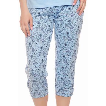 Moonline nightwear Michaela Damen Capri-Pyjama, aus 100% Baumwolle