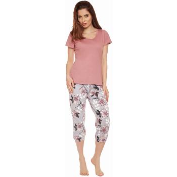 Moonline nightwear Luise Damen Capri-Pyjama, aus 100%...