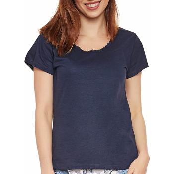 Moonline nightwear Luise Damen Capri-Pyjama, aus 100% Baumwolle