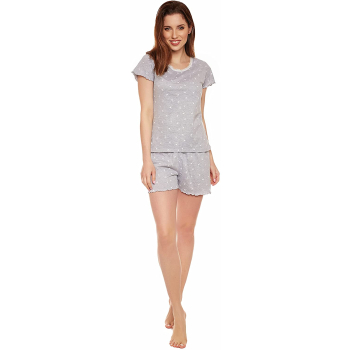 Moonline nightwear Marba Damen  Shorty, mit weicher...
