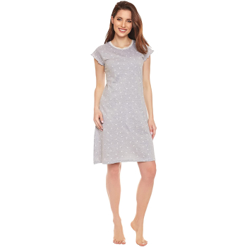 Moonline nightwear Marba Damen Nachthemd,mit weicher Baumwolle
