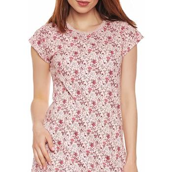 Moonline nightwear Michaela Damen Nachthemd, aus 100% Baumwolle