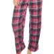 Moonline nightwear Messina 2-teiliger Damen Hausanzug aus weichem Flanell