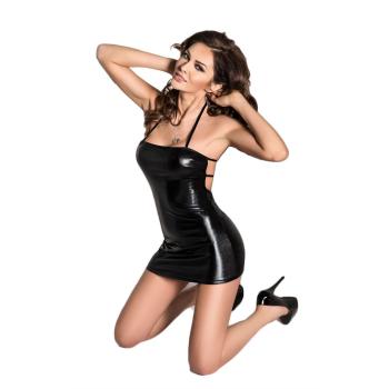 Passion Beltis Damen Wet-Look Club-Kleid