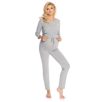 Selente Mummy Love 0181 Damen Umstands-Schlafanzug