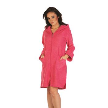 FOREX Lingerie flauschiger Bademantel Mantel mit praktischem Reißverschluss und kuscheliger Kapuze in verschiedenen Farben und Größen