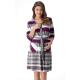 DOROTA FR070 Damen Frottee-Bademantel mit Reißverschluss & Bindegürtel