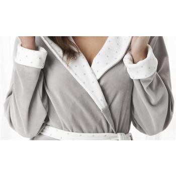 DOROTA trendiger und charmanter Baumwoll-Bademantel mit niedlicher Kapuze