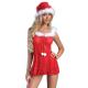 Livia Corsetti Livco schickes 3-teiliges Dessous-Weihnachts-Set aus zartem Negligee, String und Weihnachtsmütze in toller Geschenkbox