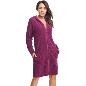 DOROTA FR104 Damen Bademantel mit Taschen, Reißverschluss & Kapuze