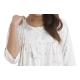 DOROTA elegantes langes Damen-Nachthemd Stillnachthemd mit Alloverdruck auf Pastellfarben, 100% Baumwolle