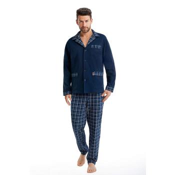 FOREX Lingerie edler Herren-Pyjama aus 100% Baumwolle Schlafanzug Hausanzug im tollen Design