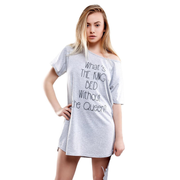 SENSIS schickes Baumwoll-Negligee Nachthemd Sleepshirt...