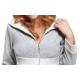DOROTA FR130 Damen trendiger Bademantel mit Reißverschluss