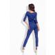 Lemoniade eleganter Jumpsuit mit 3/4-Ärmel, elegantem Wasserfallkragen und ausgefallener Schnürung an der Hüfte