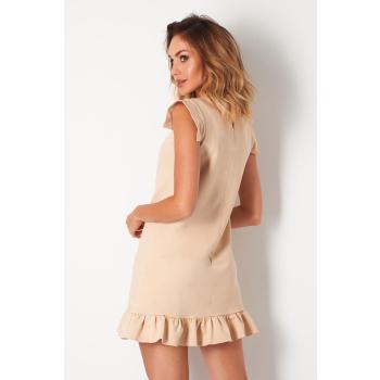 Lemoniade extravagantes Kleid mit ausgefallenen, kurzen Ärmeln und romantischen Rüschen-Saum