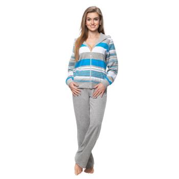 DOROTA kuscheliger und moderner Baumwoll-Hausanzug mit Taschen, Reißverschluss & Kapuze