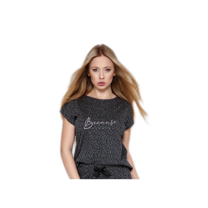d6c9d97bf5 ... SENSIS trendiger Pyjama / Schlafanzug mit angesagtem Shirt und  gemütlicher Hose aus 100% Baumwolle ...