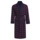 LEVERIE edler und hochwertiger Morgenmantel für Herren mit elegantem Muster und Emblem auf der Brust