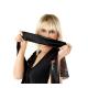 Selente exklusive, verführerische Augenbinde aus edlem Satin, Qualität made in EU, schwarz, 150 cm lang
