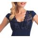 DONNA Taylor Damen Kurzarm Nachthemd mit eleganter Spitze